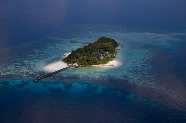 Aerial of Coco Prive island