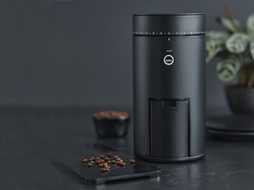 Automatic home burr coffee grinder with scale