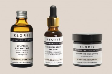 CBD products from Kloris, body oil, face oil and balm
