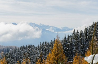 View over the Swiss Alps in Crans Montana